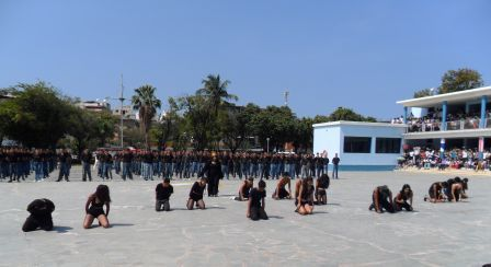 Bautizo de  los estudiantes que ingresaron en UMC
